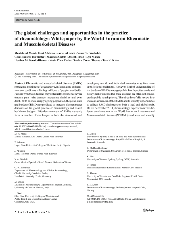 PDF) The global challenges and opportunities in the practice