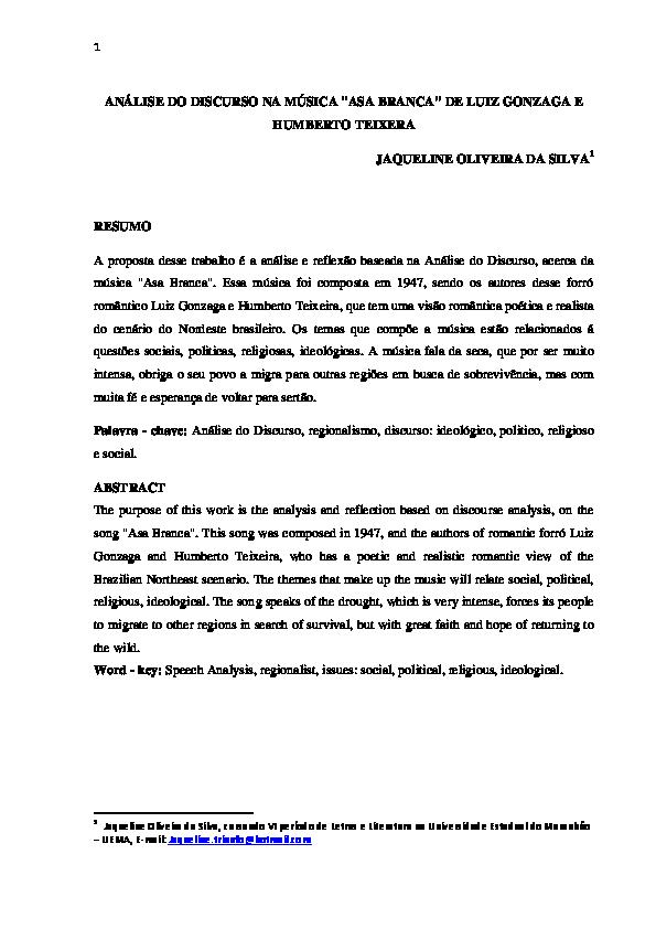 ASA MUSICA BRANCA BAIXAR LUIZ GONZAGA DO