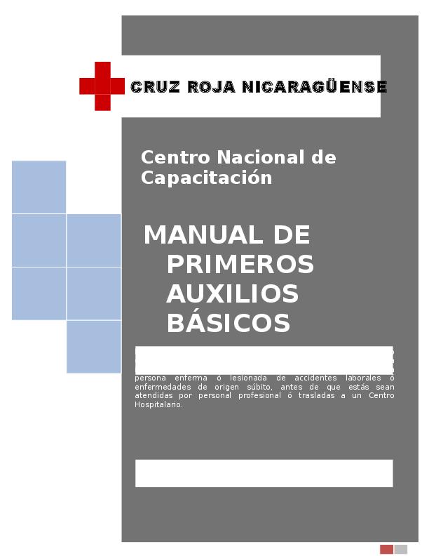 449aefb446a DOC) CRUZ ROJA NICARAGÜENSE Centro Nacional de Capacitación MANUAL ...