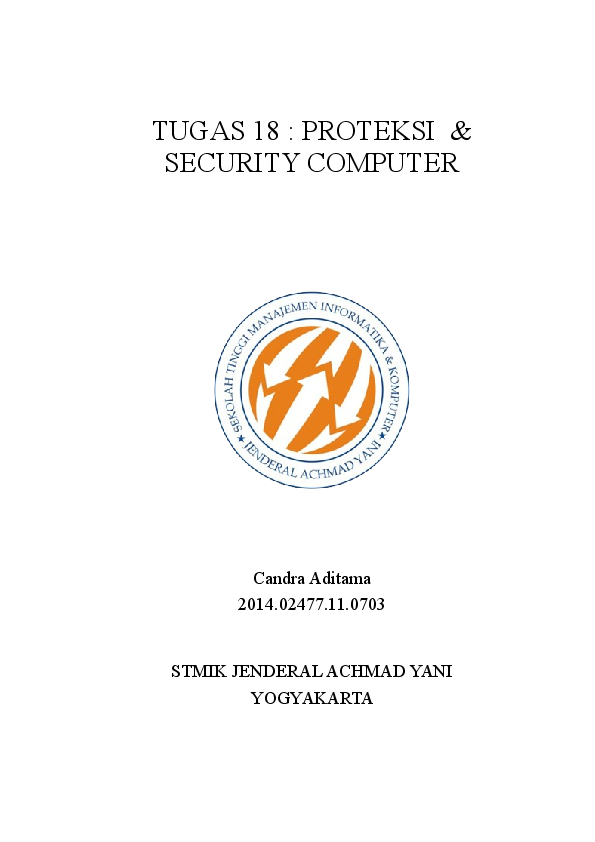 DOC) PROTEKSI & SECURITY COMPUTER | Candra Aditama