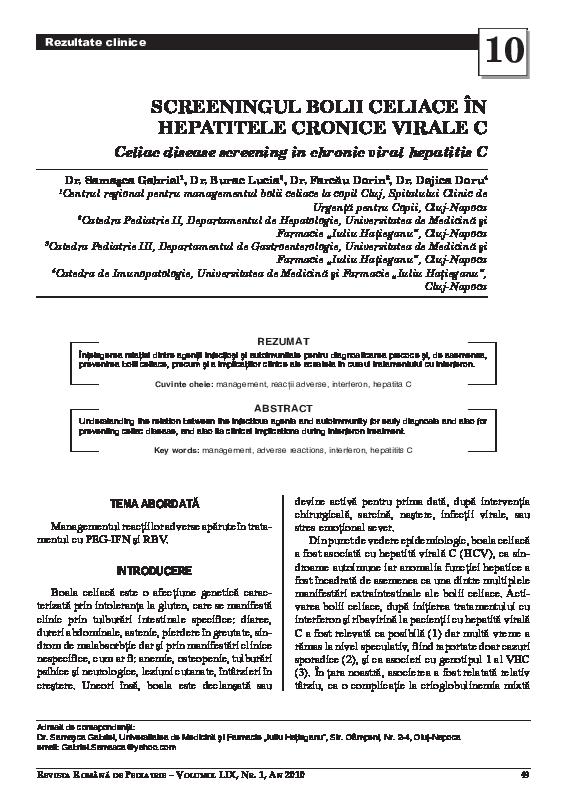 pierderea în greutate a hepatitei c