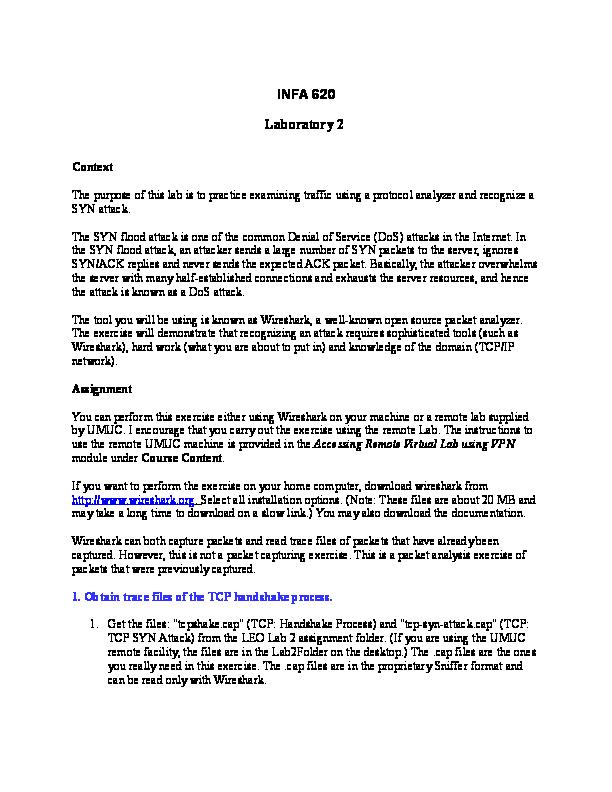 DOC) INFA 620 Laboratory 2   larry gates - Academia edu