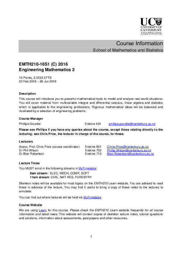 PDF) MATH109-09S1 : MATHEMATICS 1D | Dorothy Fagasua - Academia edu
