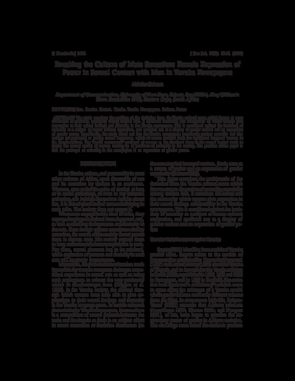 PDF) Breaking the culture of mute sensation: Female