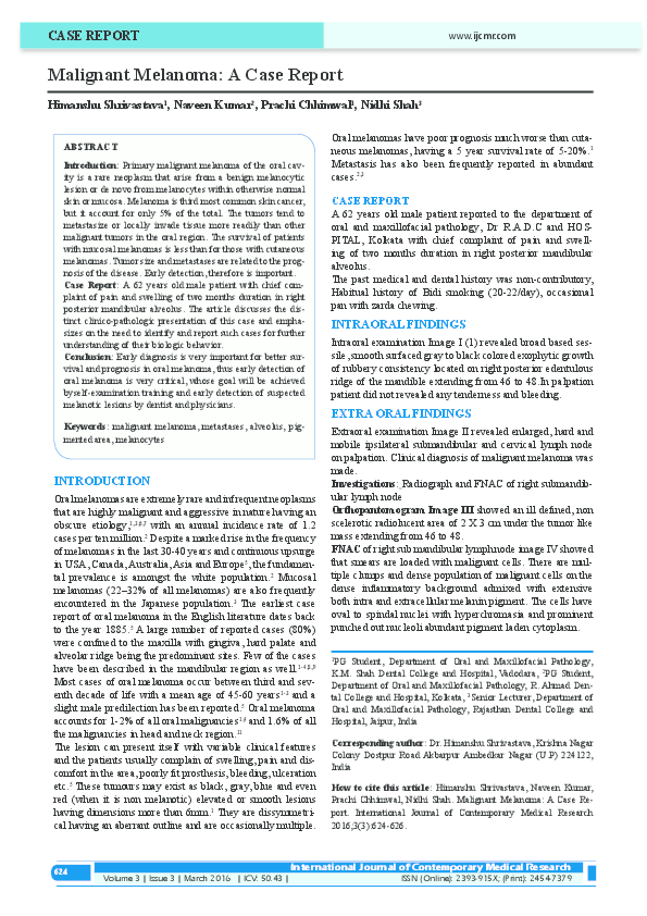 087ee02a95 International journal of contemporary medical research  Volume 3 ...