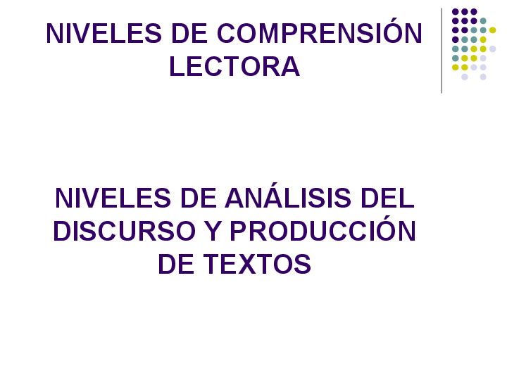 Ppt Niveles De Lectura Miguel Benavides Academia Edu