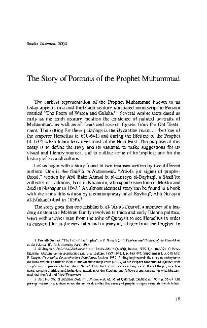 PDF) The Story of Portraits of the Prophet Muhammad | Mika Natif