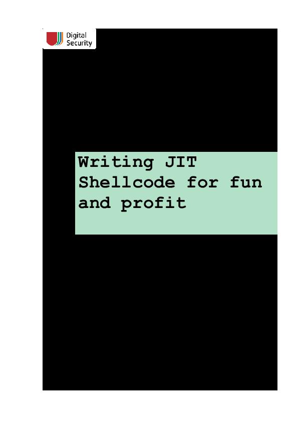 PDF) Writing JIT Shellcode for fun and profit | B3mB4m NULL