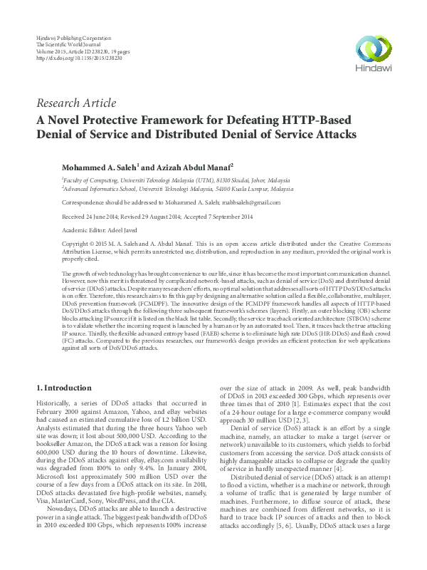 PDF) A Novel Protective Framework for Defeating HTTP-Based