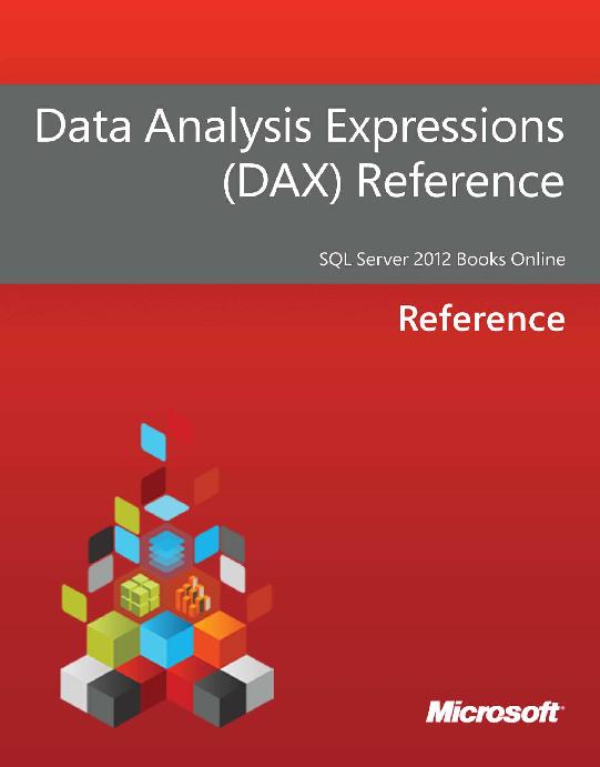 PDF) Data analysis expressions dax reference | Kurotsushi