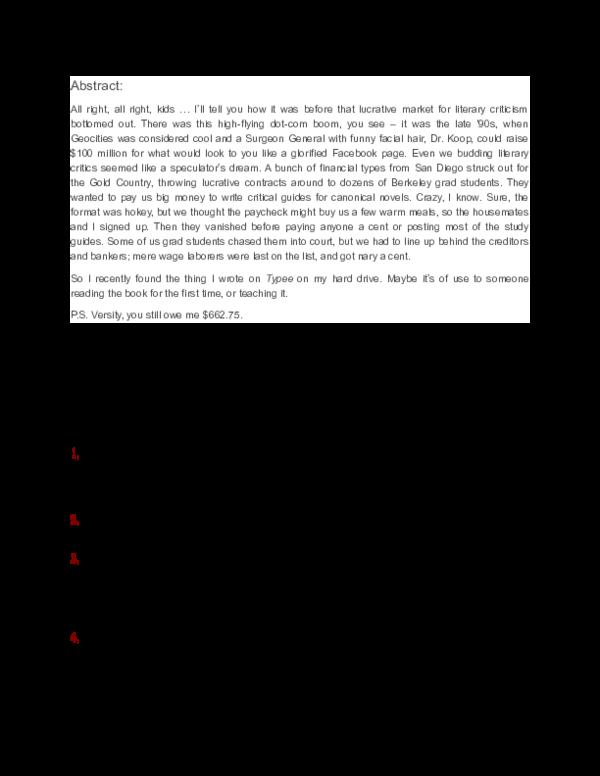 Doc Study Guide To Melville S Typee Len Von Morze Academia Edu