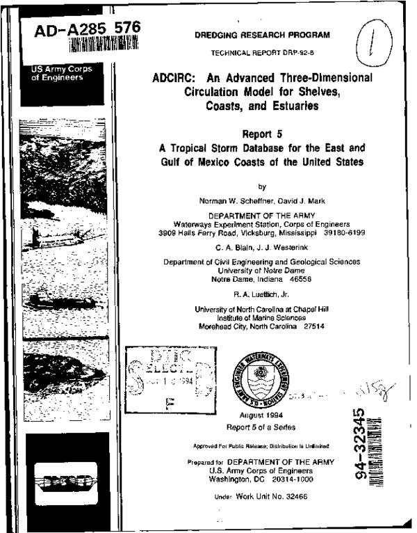PDF) Adcirc: An Advanced Three-Dimensional Circulation 10DEL