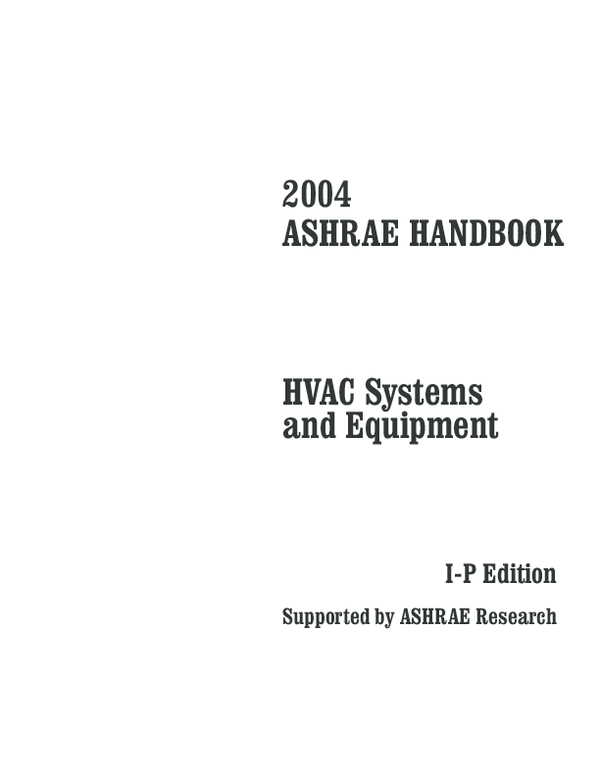 ashrae handbook hvac systems and equipment free download pdf