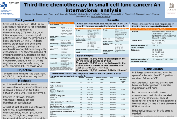 PPT) Third-Line Chemotherapy in Small-Cell Lung Cancer: An
