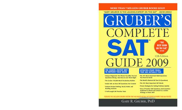 PDF) GRUBER'S Complete SAT guide | Baemoon Seo - Academia edu