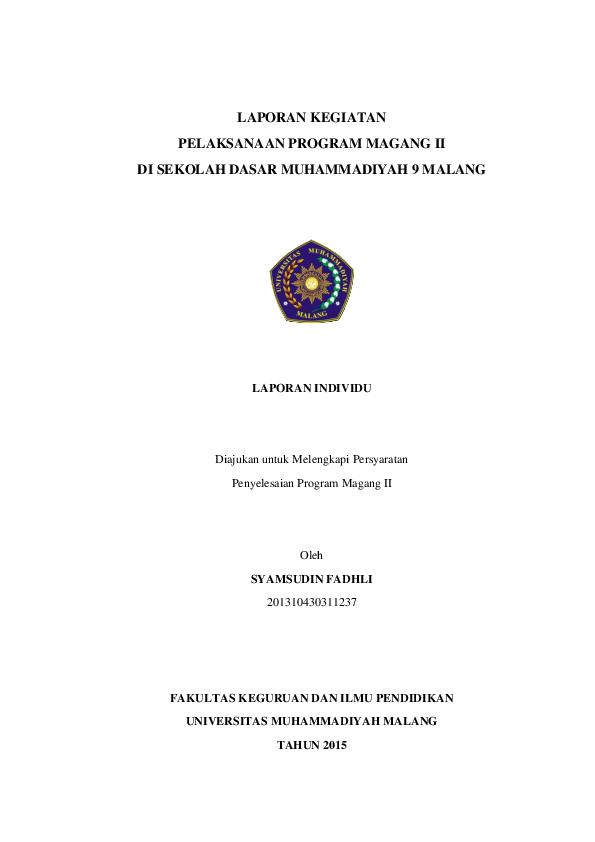 Pdf Observasi Sd Syamsudin Fadhli Academia Edu