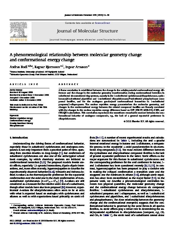 PDF) A phenomenological relationship between molecular