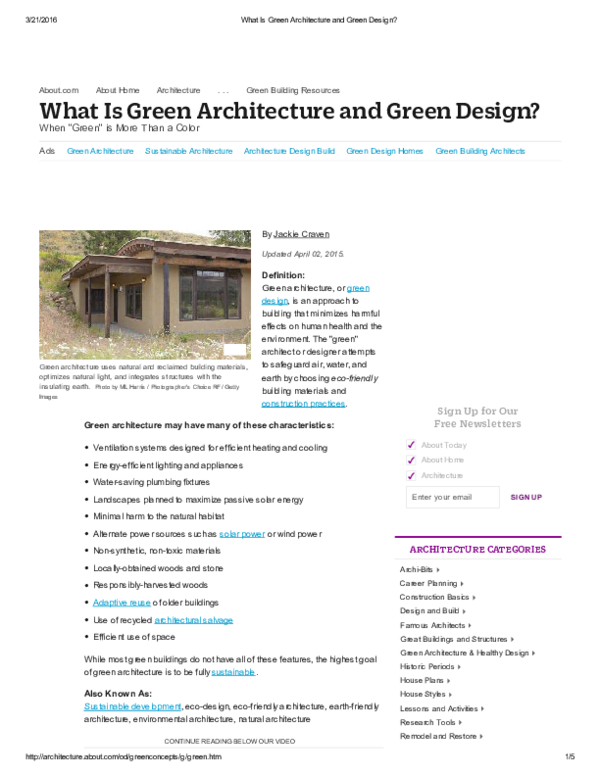 PDF) Ads Green Architecture Sustainable Architecture Architecture