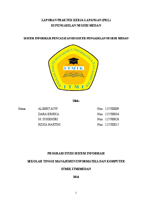 Doc Laporan Praktek Kerja Lapangan Pkl Riska Hartini Academia Edu