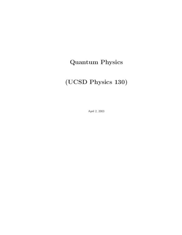 Gasiorowicz Quantum Physics Pdf