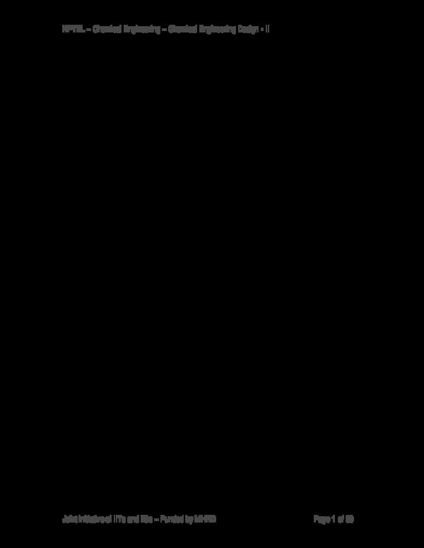 PDF) Module # 7 PROCESS DESIGN OF MASS TRANSFER COLUMN: DESIGN OF