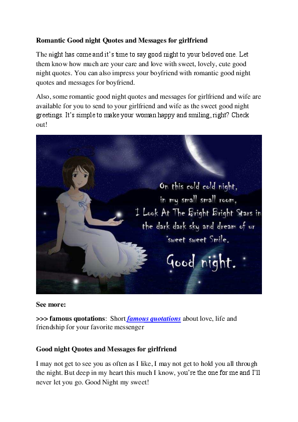pdf r tic good night quotes and messages for girlfriend