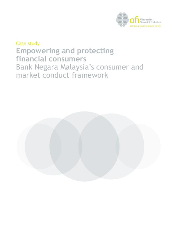 Pdf Empowering And Protecting Financial Consumers Bank Negara Malaysia S Consumer And Market Conduct Framework Fiqah Mhd Academia Edu