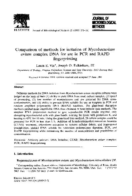 Methods - Isolation of VMAT2 Gene