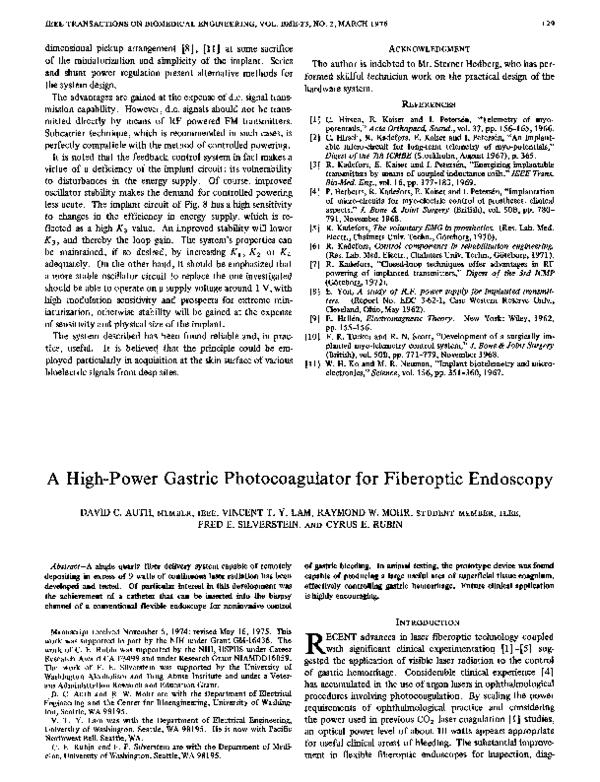 PDF) A High-Power Gastric Photocoagulator for Fiberoptic