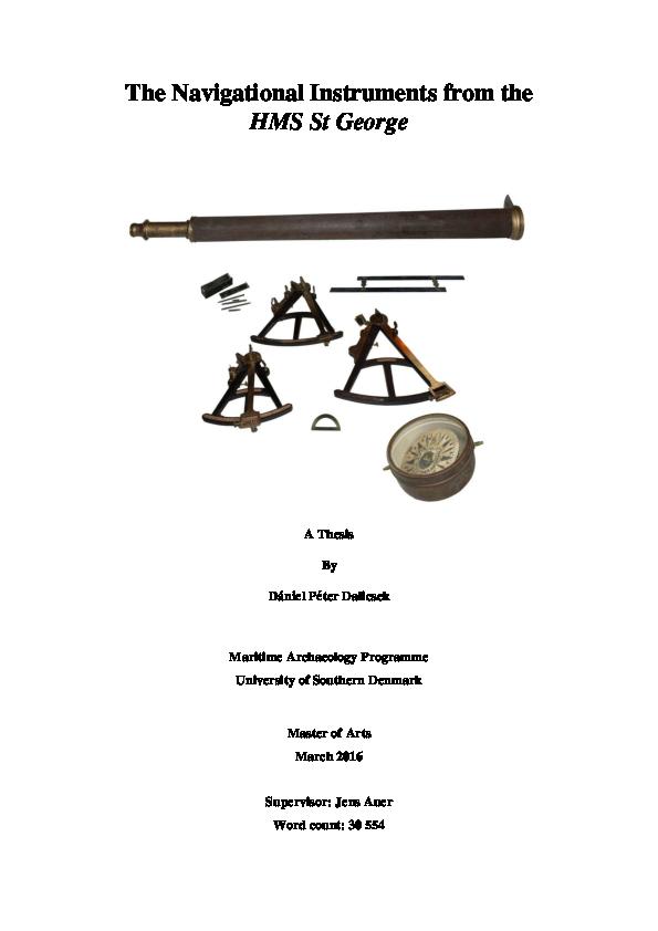 Pdf The Navigational Instruments From The Hms St George Dalicsek Daniel Academia Edu