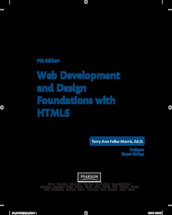 Pdf Professor Harper College 7th Edition Web Development And Design Foundations With Html5 Ruiyun Hu Academia Edu