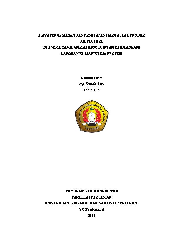 Doc Contoh Laporan Kkp Ayu Kumalasari Academia Edu