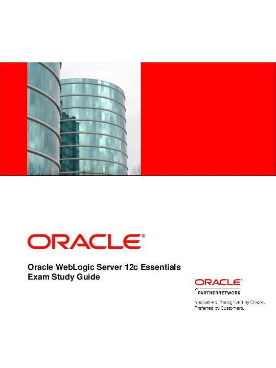 Oracle WebLogic Server 12c Essentials TEST