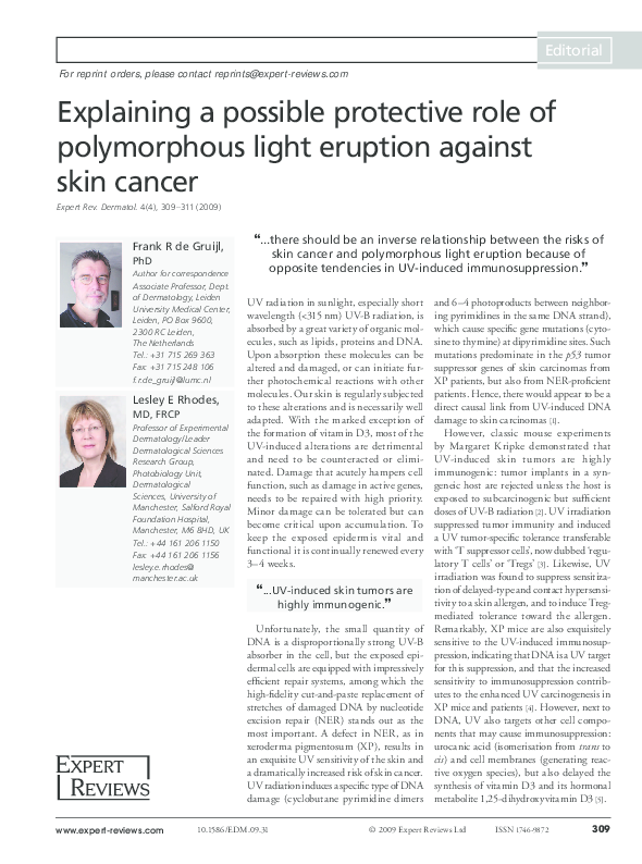 PDF) Explaining a possible protective role of polymorphous