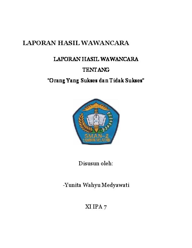Doc Makalah Hasil Wawancara Yunita Wahyu Medyawati Widodo Academia Edu