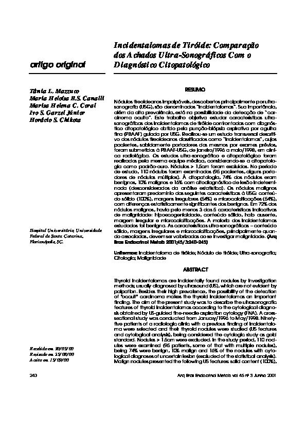 nódulo maligno na tireoide características