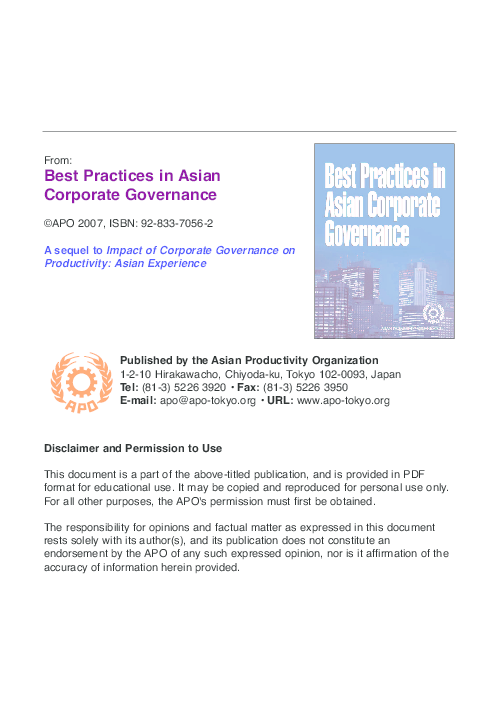 PDF) Corporate governance in Japan: Flexible adoption of