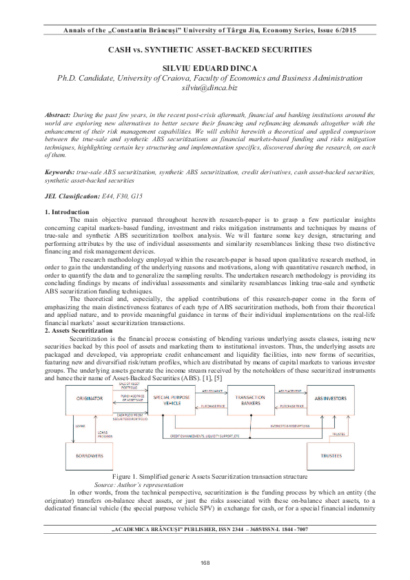 PDF) Cash vs Synthetic Asset-Backed Securities | Silviu