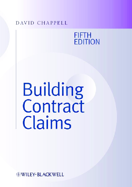 PDF) [David Chappell] Building Contract Claims 5th Ed | basant kamal