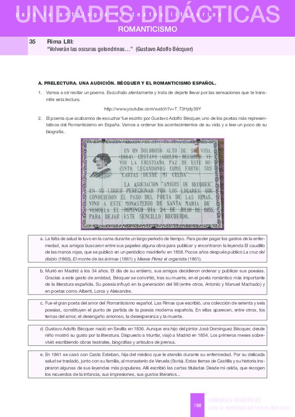 Pdf Unidades Didácticas Para La Antología De Textos