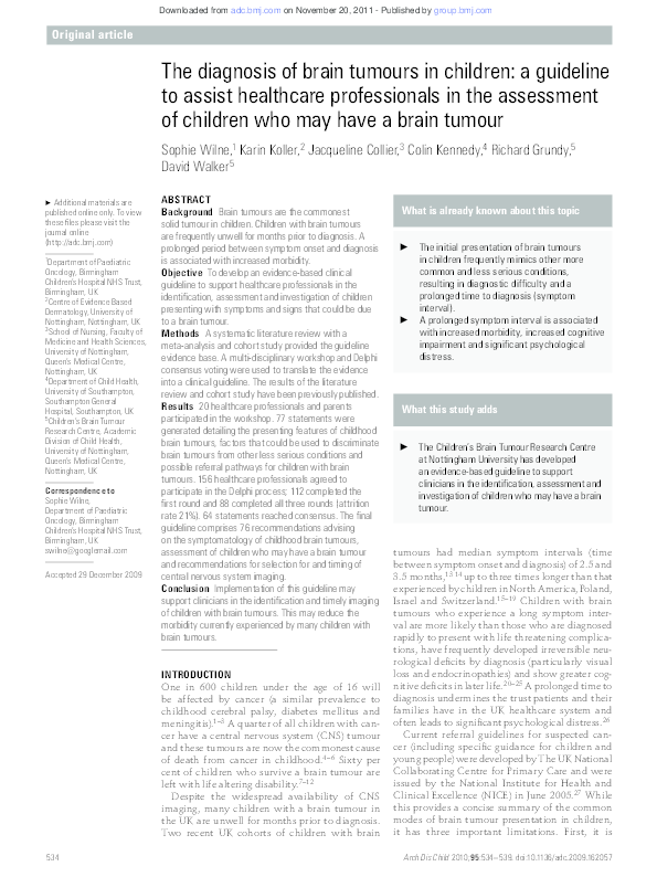 Nursing Diagnosis For Brain Tumor