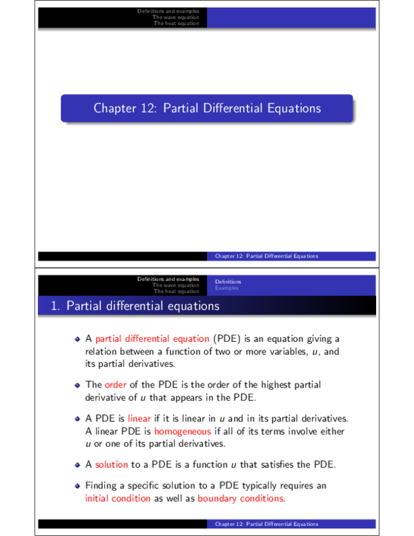 PDF) Chapter 12: Partial Differential Equations | Omair Shah