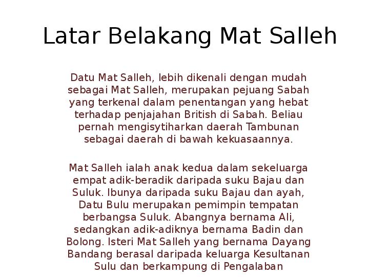 Ppt Latar Belakang Mat Salleh Irzan Majid Academia Edu