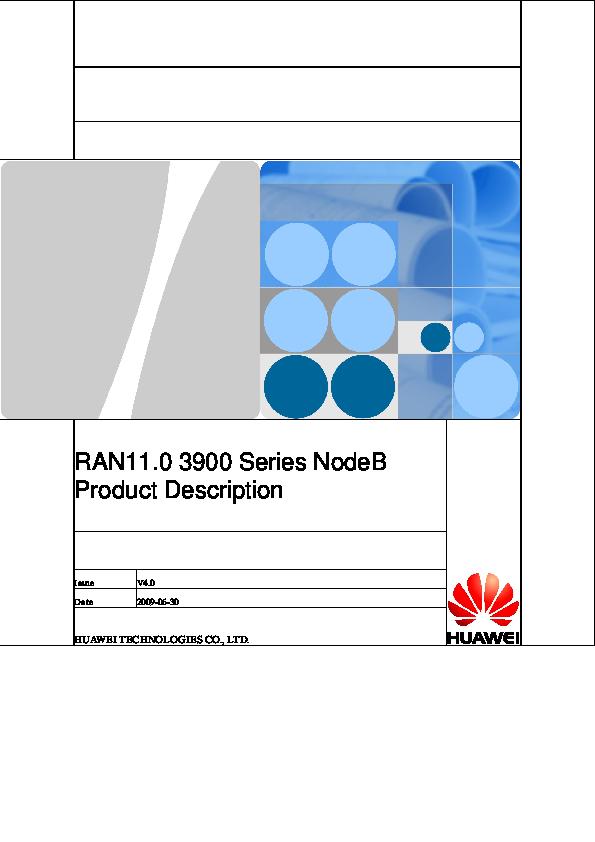 PDF) Huawei RAN11[1] 0 3900 Series NodeB Product Description