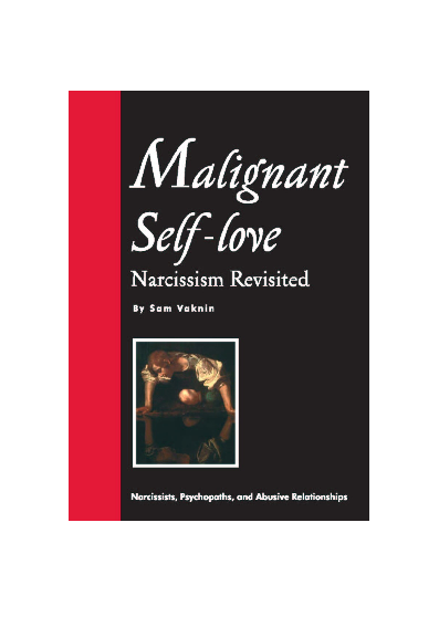 DOC) Malignant Self-love: Narcissism Revisited (10th ed