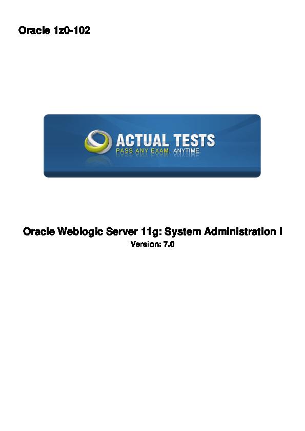 Weblogic 11g Administration Handbook Pdf