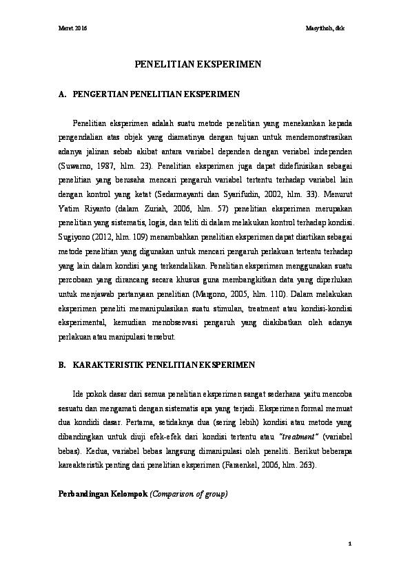 Contoh Soal Dan Materi Pelajaran 2 Contoh Skripsi Eksperimen