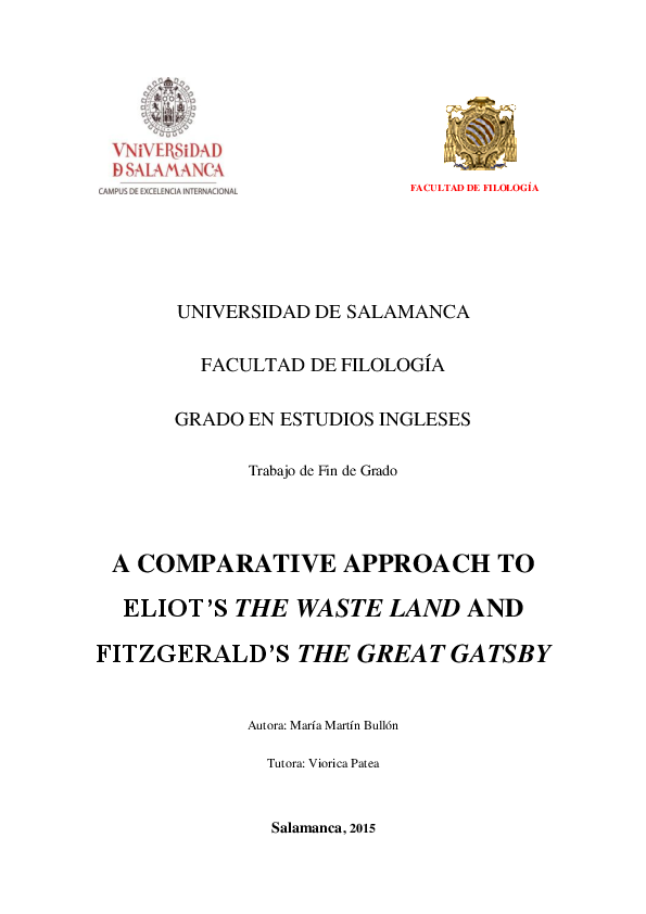 PDF) A COMPARATIVE APPROACH TO ELIOT'S THE WASTE LAND AND