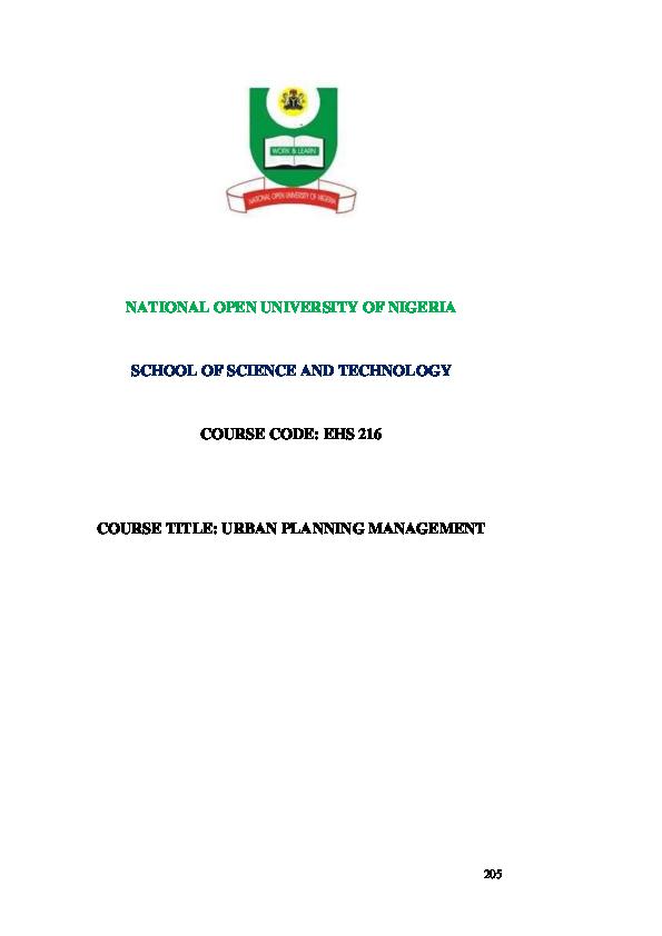 PDF) NATIONAL OPEN UNIVERSITY OF NIGERIA SCHOOL OF SCIENCE
