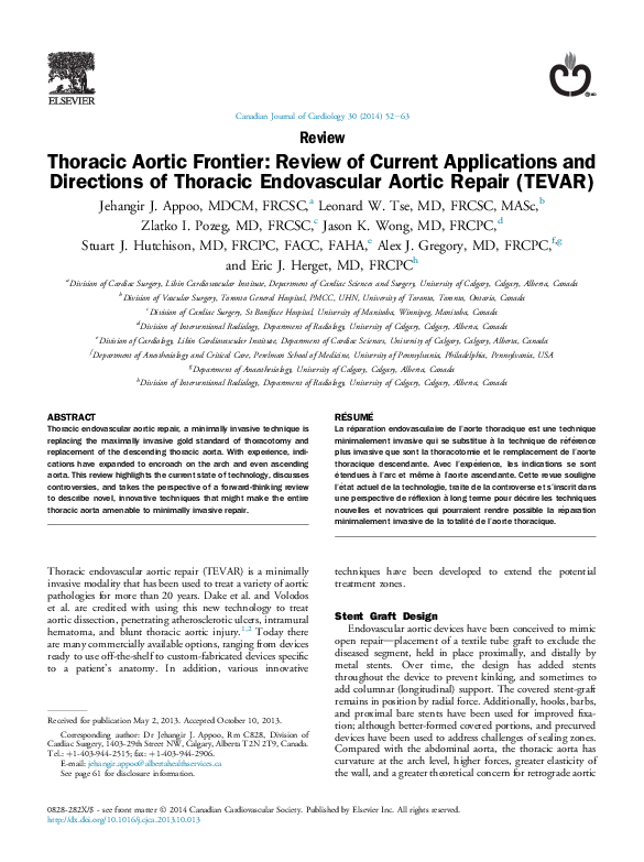 Pdf Thoracic Aortic Frontier Review Of Current Applications And Directions Of Thoracic Endovascular Aortic Repair Tevar Leonard Tse Academia Edu